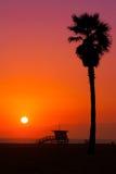 Malibu-Sonnenuntergang Stockbilder
