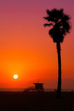 Malibu sunset Stock Images
