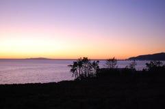 Malibu. Sunset at malibu, beauty scene in winter Stock Image