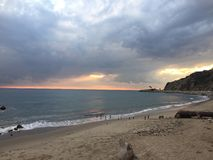 Malibu sunset. No filter. view from my sit spot Royalty Free Stock Image