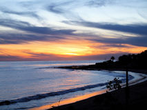 Malibu Sunset. Sunset over the Pacific Ocean Royalty Free Stock Image