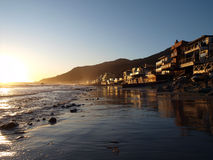 Malibu Topanga Sunset. Perfect Malibu sunset along scenic Topanga Beach Royalty Free Stock Image