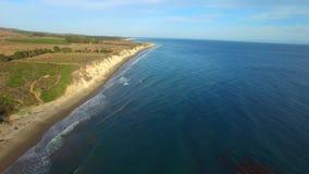 Malibu video aéreo California almacen de metraje de vídeo