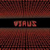 Malicious binary code. Closeup of binary code infected by computer virus Royalty Free Stock Photos