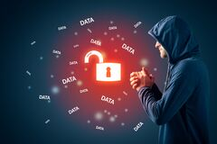 Free Malicious Hacker Look Forward To Steal Data Royalty Free Stock Photo - 181511485