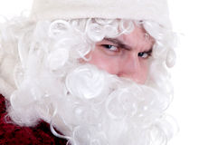Malicious santa claus. Looks with threat Royalty Free Stock Images