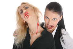 Malicious woman -vampire and beautiful women Stock Images