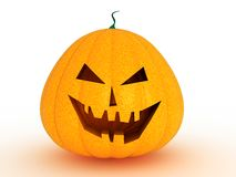 Maliciously evil smiling pumpkin Royalty Free Stock Photography