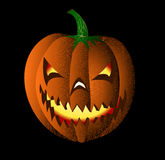 Maliciously smiling pumpkin Royalty Free Stock Photo
