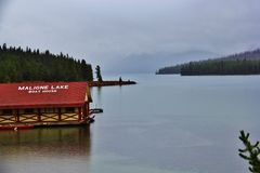 Malign Lake Jasper , Alberta. Beautiful Malign Lake  in Jasper Yoho National Park Royalty Free Stock Photos