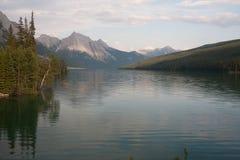 Maligne湖在贾斯珀国家公园,亚伯大,加拿大-股票 免版税库存照片