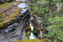 Maligne Canyon. At Jasper Nationalpark. Alberta. Canada Royalty Free Stock Image