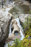 Maligne Canyon. In Alberta Canada Royalty Free Stock Photo