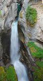 Maligne canyon falls Royalty Free Stock Images