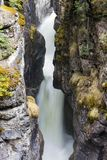Maligne Canyon Falls Jasper National Park. Maligne Canyon is a natural feature located in the Jasper National Park near Jasper, Alberta, Canada. Eroded out of Royalty Free Stock Photography