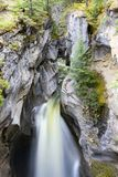 Maligne Canyon Falls Jasper National Park. Maligne Canyon is a natural feature located in the Jasper National Park near Jasper, Alberta, Canada. Eroded out of Royalty Free Stock Photos