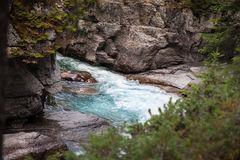Maligne Canyon- Jasper National Park- Alberta- Canad Stock Photos