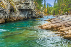 Maligne Canyon. Jasper National Park, Alberta, Canada Royalty Free Stock Photo