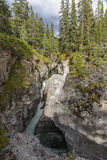 Maligne Canyon - Jasper National Park, Alberta, Canada. Waterfall in Maligne Canyon - Jasper National Park, Alberta, Canada Stock Photos