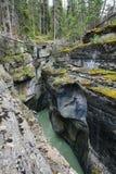 Maligne Canyon in Jasper Stock Photo