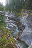 Maligne Canyon near Jasper in Canada Stock Photo