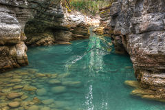 Maligne canyon river Royalty Free Stock Photo