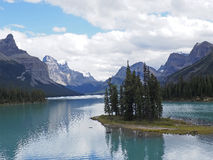 Maligne Island. An image of an island in Maligne Lake near Jasper, Canada Royalty Free Stock Images