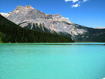 Maligne Lake 2. Beautiful waters of Maligne Lake Alberta Royalty Free Stock Photography