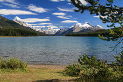 Maligne Lake. In the Jasper National Park in Canada Stock Photos