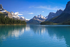 Maligne Lake. At the Jasper Nation Park in Canada royalty free stock photos