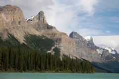 Maligne Lake. Jasper National Park, Canada Royalty Free Stock Images