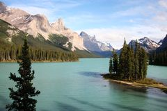 Maligne Lake. Spirit Island on Maligne Lake, Jasper National Park, Canada Royalty Free Stock Photo