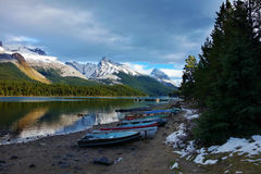 Maligne lake, Alberta, Canada. Jasper national park Alberta Canada Royalty Free Stock Photography