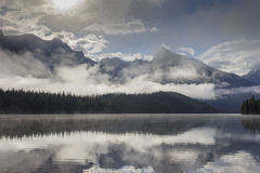 Maligne lake in Canada. Maligne lake in  Alberta Canada Stock Images