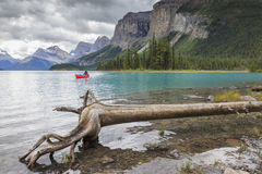 Maligne lake in Canada. Maligne lake in  Alberta Canada Stock Photos