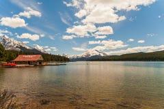 Maligne Lake, Alberta. Maligne Lake, Jasper National Park, Alberta, Canada Stock Images
