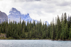 Maligne lake in Canada. Maligne lake in  Alberta Canada Royalty Free Stock Photography