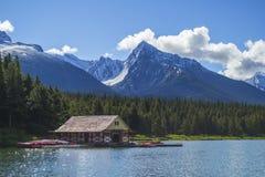 Maligne Lake, Canada Stock Photo