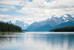 Maligne Lake, Canada Stock Photo