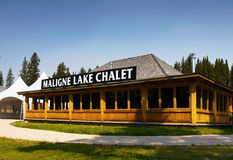 Maligne Lake Chalet, Jasper NP Stock Images