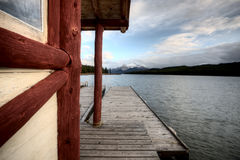 Maligne Lake Jasper Alberta. Scenic view beauty Royalty Free Stock Images
