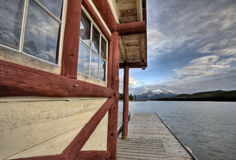 Maligne Lake Jasper Alberta. Scenic view beauty Stock Image