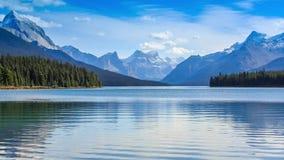 Maligne Lake stock video footage