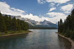 Maligne Lake - Jasper National Park Royalty Free Stock Photo