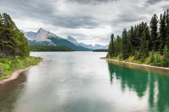 Maligne Lake, Jasper National Park. Alberta, Canada Royalty Free Stock Image