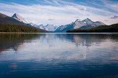 Maligne Lake. Jasper National Park at Maligne Lake Stock Photo