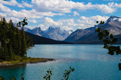 Maligne Lake, Jasper national park Stock Images