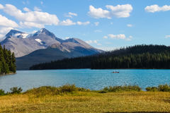 Maligne Lake, Jasper national park Royalty Free Stock Photo