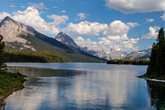 Maligne Lake- Jasper National Park- Alberta- CA Royalty Free Stock Photo