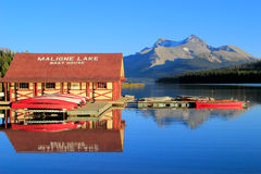 Maligne lake in Jasper national park, Alberta, Canada Royalty Free Stock Photos